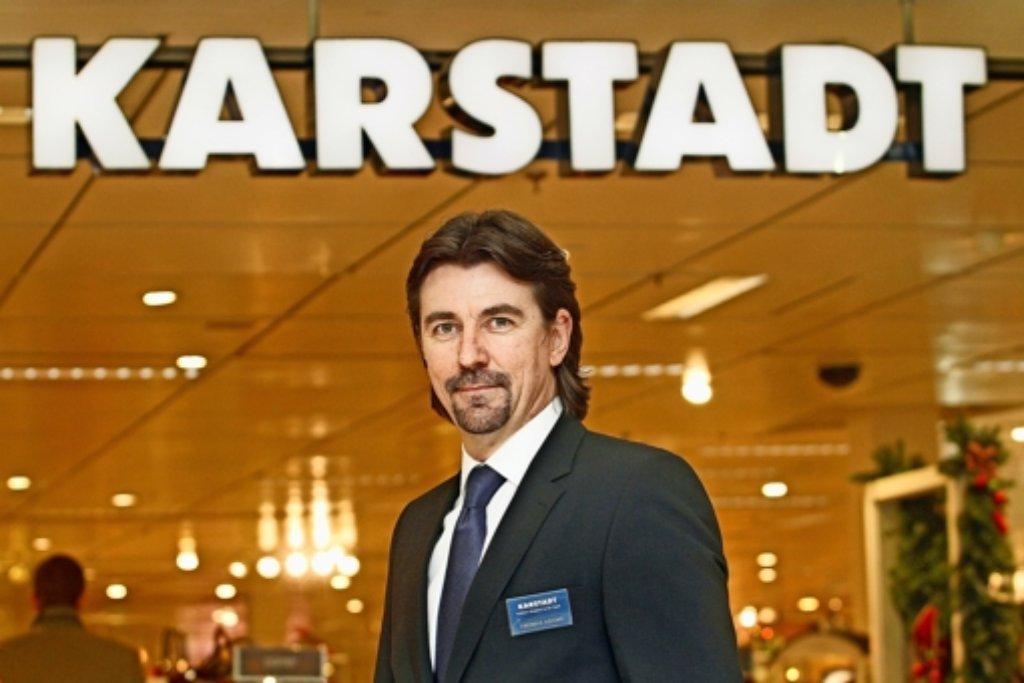 Ist vom Erfolg seiner Filiale überzeugt: der Leonberger Karstadt-Chef Thomas Adams. Foto: factum/Granville