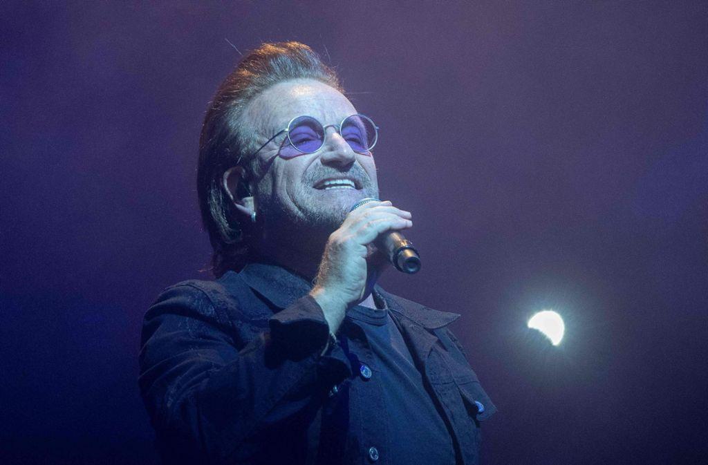 Bono nimmt kein Blatt vor den Mund – aber am Samstag machte die Stimme nicht mehr mit. Foto: dpa