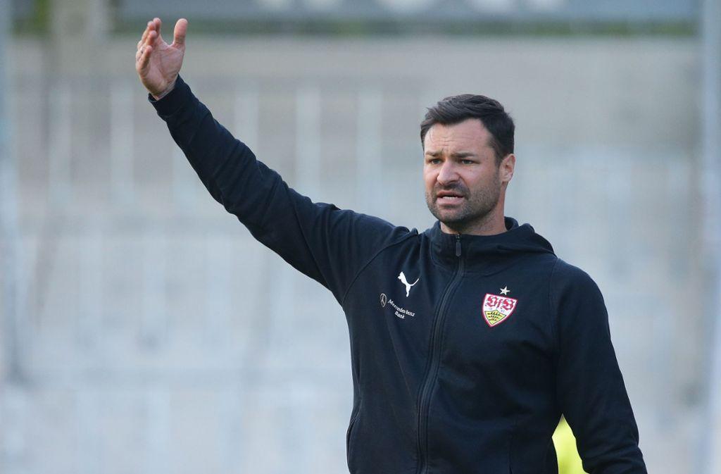 Trainer Daniel Teufel hatte einiges zu coachen. Foto: Pressefoto Baumann