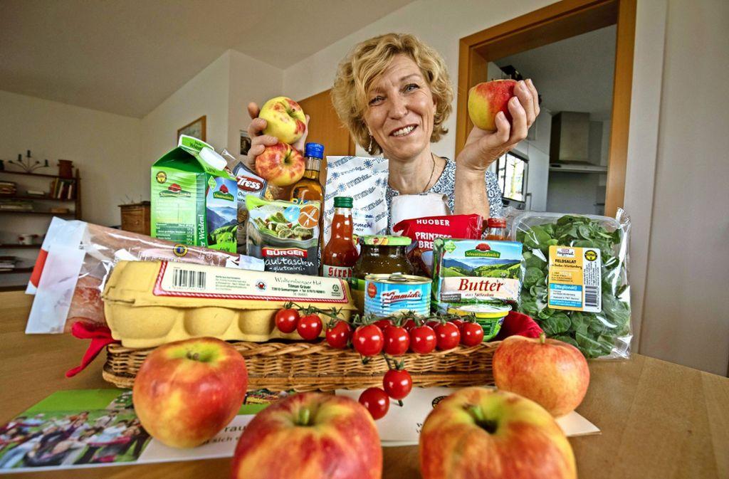 Lecker, gesund und nachhaltig – Adelheid Rodehutscord wirbt für Lebensmittel made in Baden-Württemberg. Foto: Michael Steinert