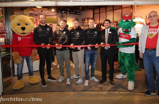 Neuer VfB-Fanshop im Breuningerland Ludwigsburg eröffnet