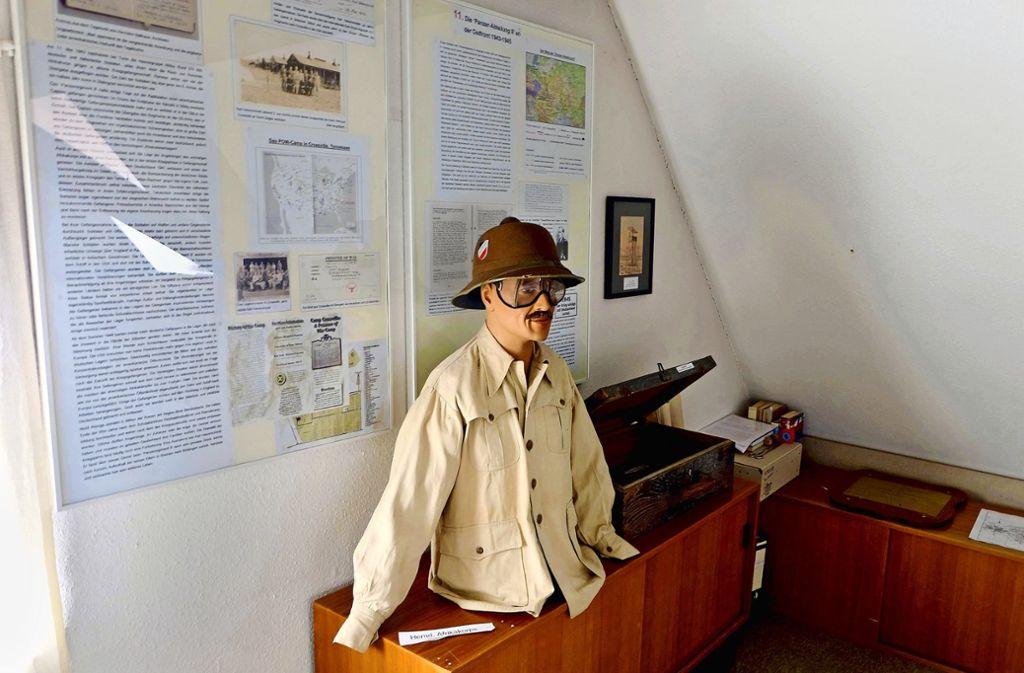 Zwei Räume im Fleischermuseum sind  dem Panzerregiment gewidmet: Die Ausstellung haben Ehrenamtliche aufgebaut. Foto: Stadt Böblingen