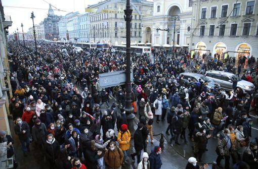 Mehr als 1000 Festnahmen bei Nawalny-Protesten