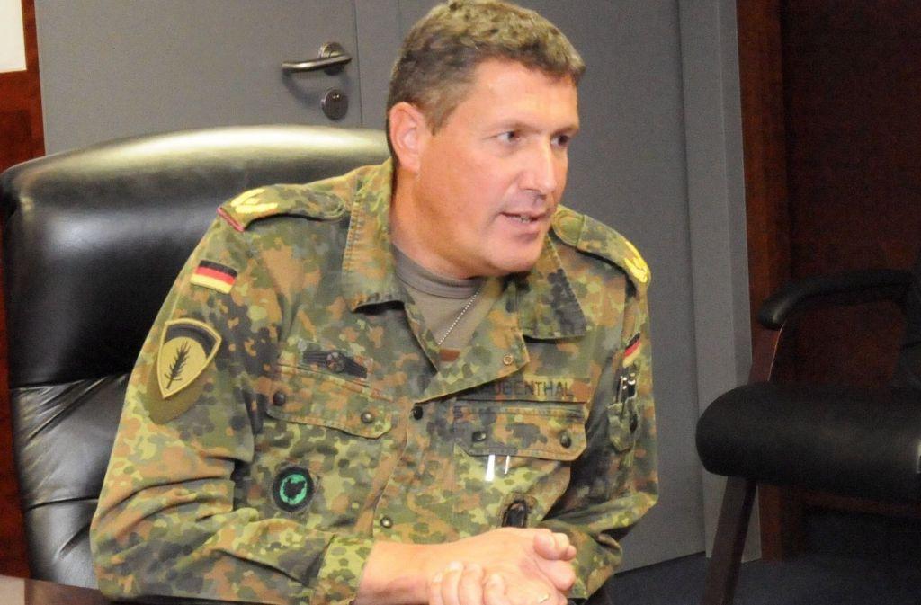 Markus Laubenthal erhielt den Marschbefehl zu den Amerikanern vor drei Jahren beim Afghanistan-Einsatz in Masar-i-Scharif. Zuvor war er Kommandeur der Panzerbrigade 12 in Amberg. Foto: US-Army