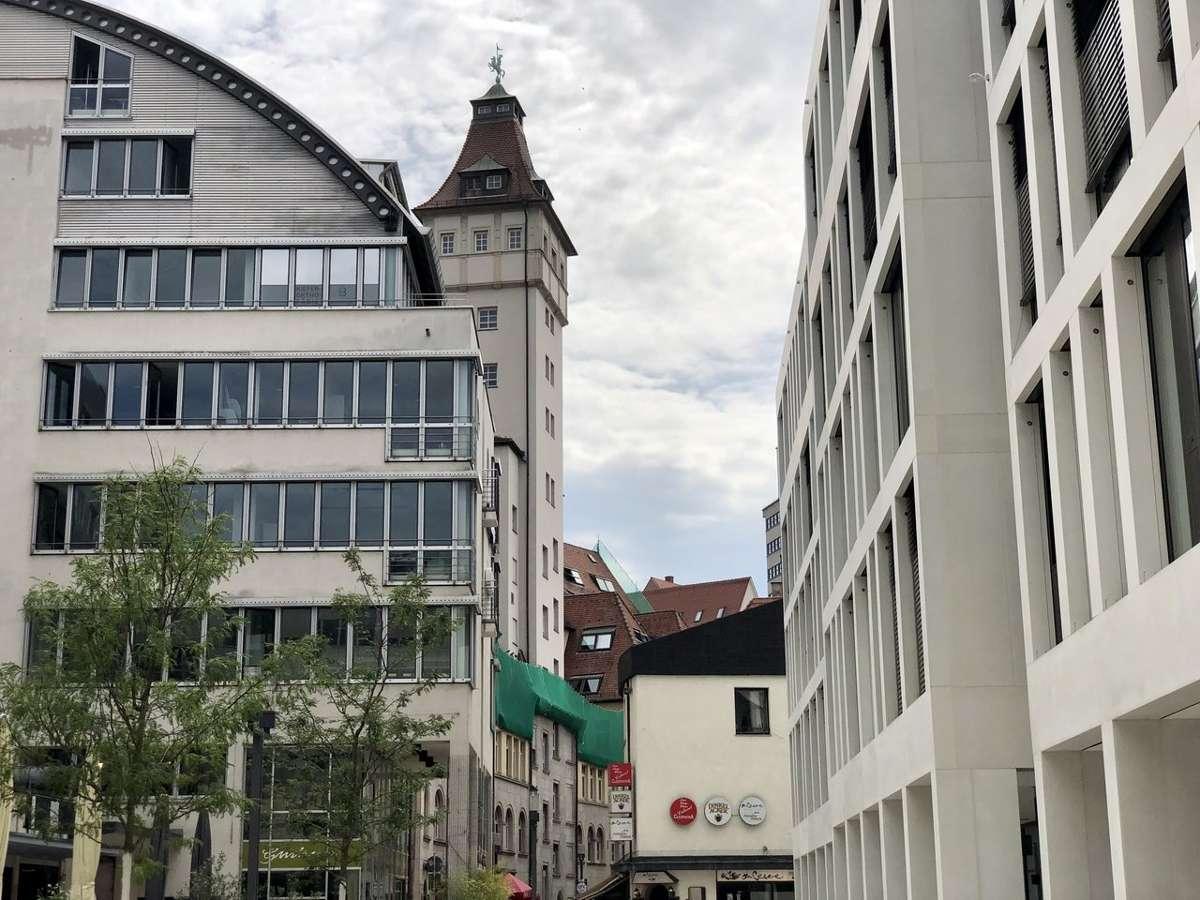 Ungewohnte Aussichten – in der Stadtmitte hat sich einiges getan.  Foto: Joachim Baier