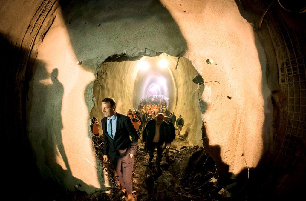 Der Tunneldurchbruch unter dem Rosenstein Foto: Lichtgut/Achim Zweygarth