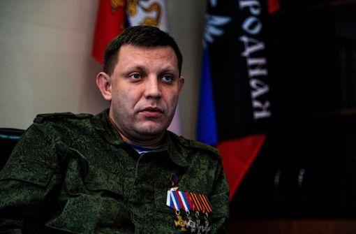Alexander Sachartschenko bei Bombenanschlag getötet