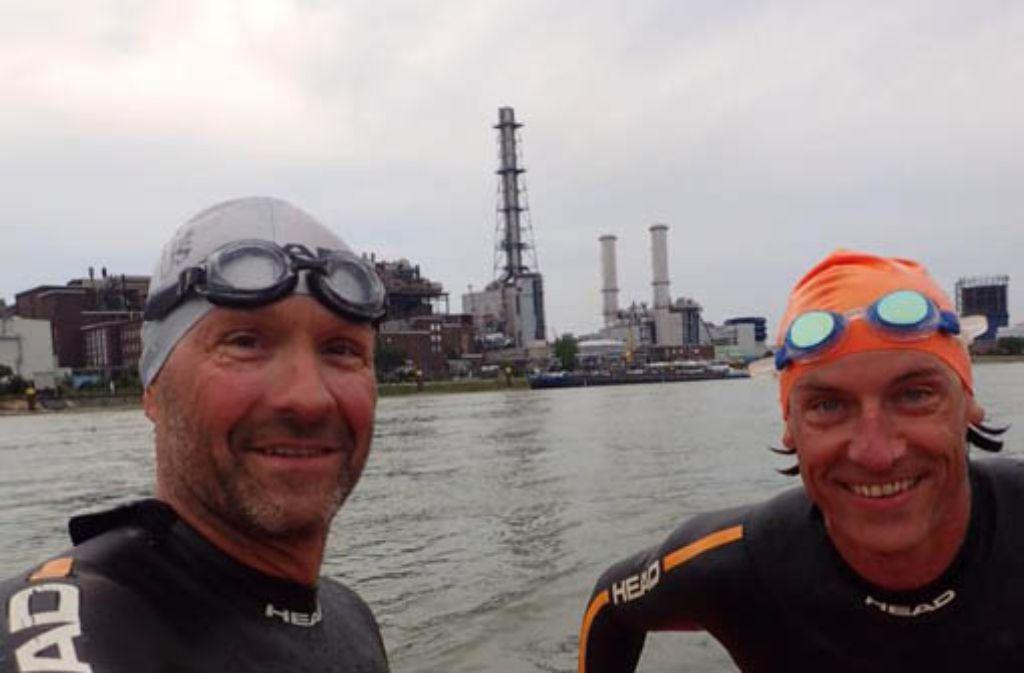 Nach knapp 300 Kilometern sind Martin Tschepe und Volker Heyn in Mannheim angekommen. Foto: Martin Tschepe