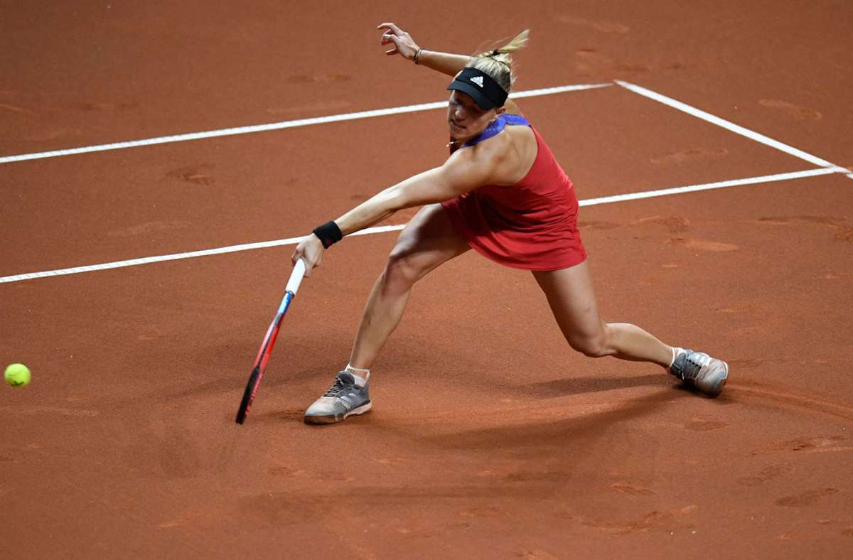 Angelique Kerber hat in Stuttgart einen souveränen Start hingelegt. Foto: AFP/THOMAS KIENZLE
