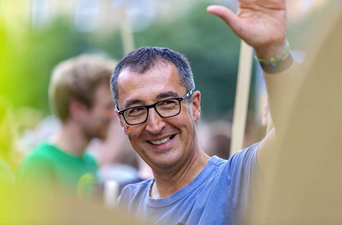 Cem Özdemir wird wohl das Direktmandat im Wahlkreis Stuttgart 1 holen. Foto: imago /Arnulf Hettrich