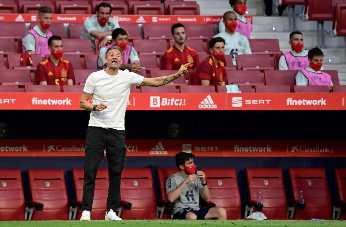 Spaniens Trainer Luis Enrique kann bei der EM auf seine A-Mannschaft zurückgreifen. Foto: AFP/JAVIER SORIANO