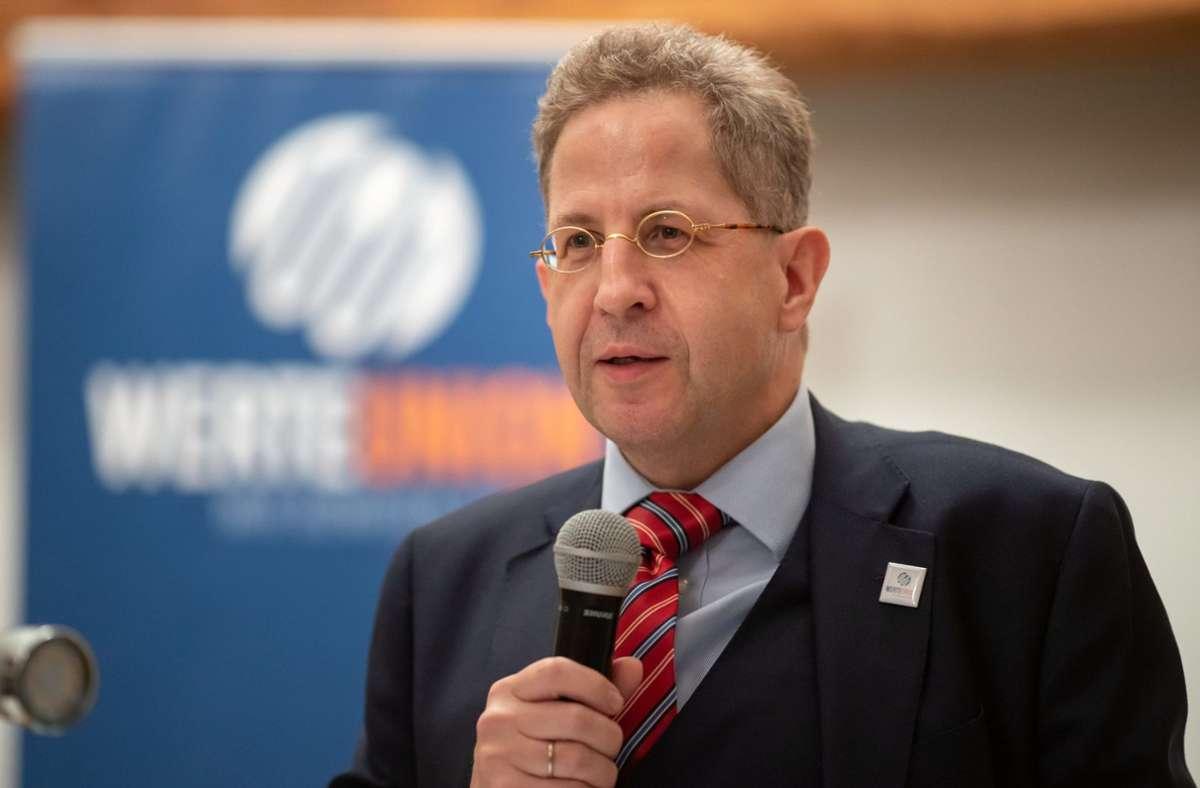 Hans-Georg Maaßen wirft dem öffentlich-rechtlichen Rundfunk eine tendenziöse Berichterstattung vor. Foto: dpa/Michael Reichel