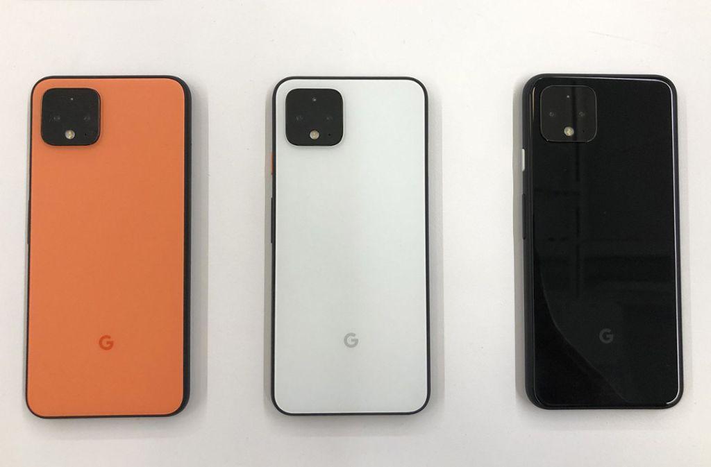 Die neuen Google-Modelle. Foto: AP/Jeff Chiu
