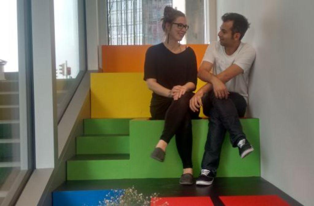 Franziska Krämer und Sadik Kapti: Für ein schöneres Stuttgart! Foto: Björn Springorum