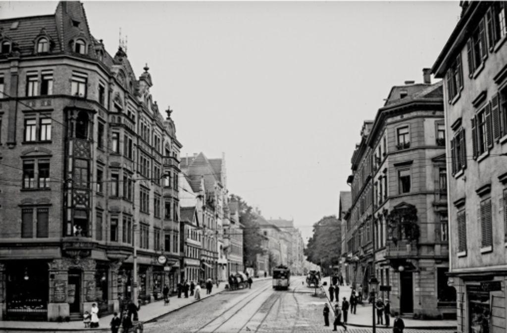 Rotebühlstraße (um 1900) Foto: Haus der Geschichte, Sammlung Metz