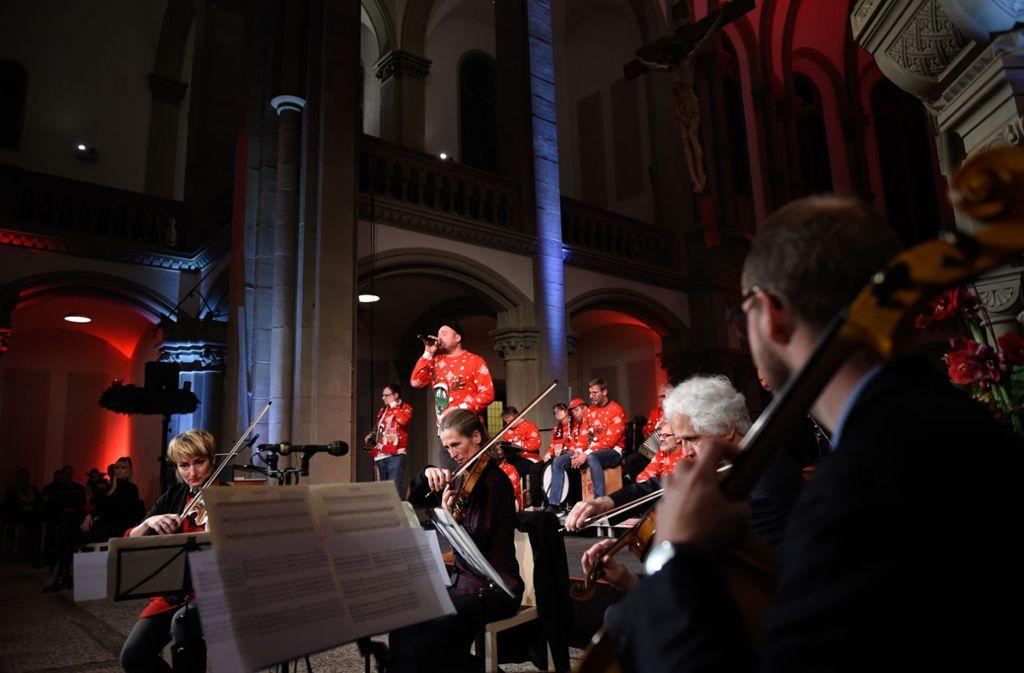 Unter anderem vier Mitglieder des Stuttgarter  Kammerorchesters verwandelten die Matthäuskirche in Heslach in einen Konzertsaal. Foto: /Rainer Pfisterer