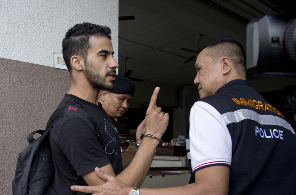 Seit November sitzt der Fußballer Hakim Al-Araibi in thailändischer Haft. Foto: AP