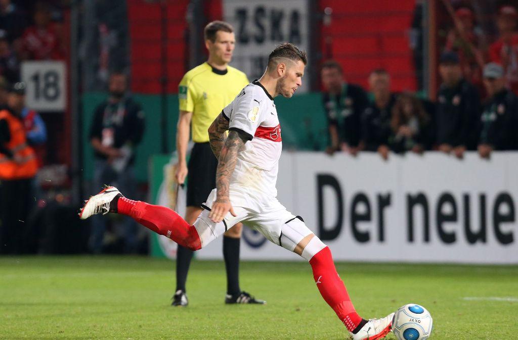 VfB-Stürmer Daniel Ginczek steht vor der Rückkehr. Foto: Pressefoto Baumann