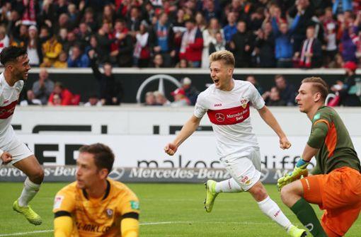 Pleitenserie des VfB ist beendet – 3:1 gegen Dynamo Dresden