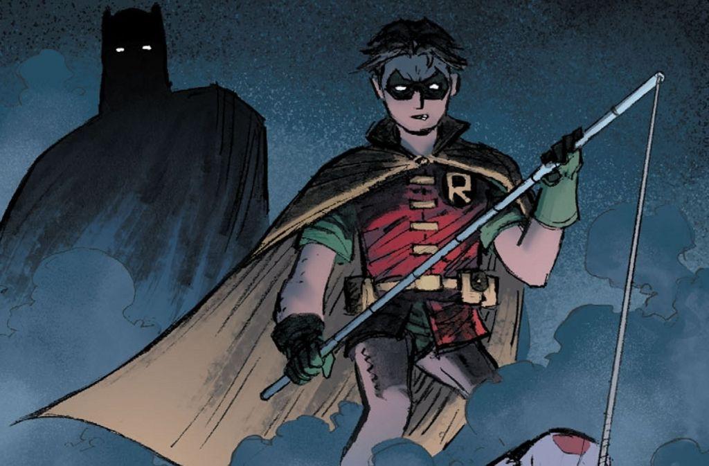Selbst der düstere Batman fragt sich, ob Robin nicht zu brutal für den Job geworden ist. Foto: DC
