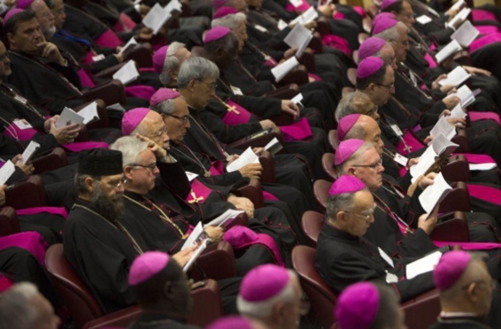 Bei der Bischofssynode wird über Fragen des Zusammenlebens beraten. Foto: AP