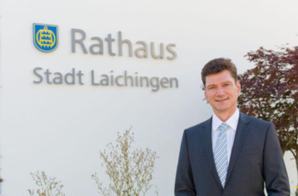 Der Laichinger Bürgermeister Klaus Kaufmann wagt keine Prognose für Sonntag. Foto: privat