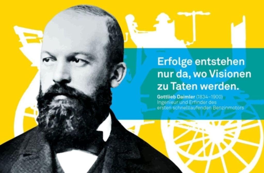 Der Schorndorfer Gottlieb Daimler (1834-1900) glaubte an die Perfektion. Mit Lust und starkem Willen werkelte und experimentierte er in seinem umgebauten Cannstatter Gewächshaus. Heraus kam der erste schnelllaufende Benzinmotor –  die Geburt des Automobils war vollbracht.Lisanne Knoch, Franziska Sessle, Akademie der media Stuttgart Foto: