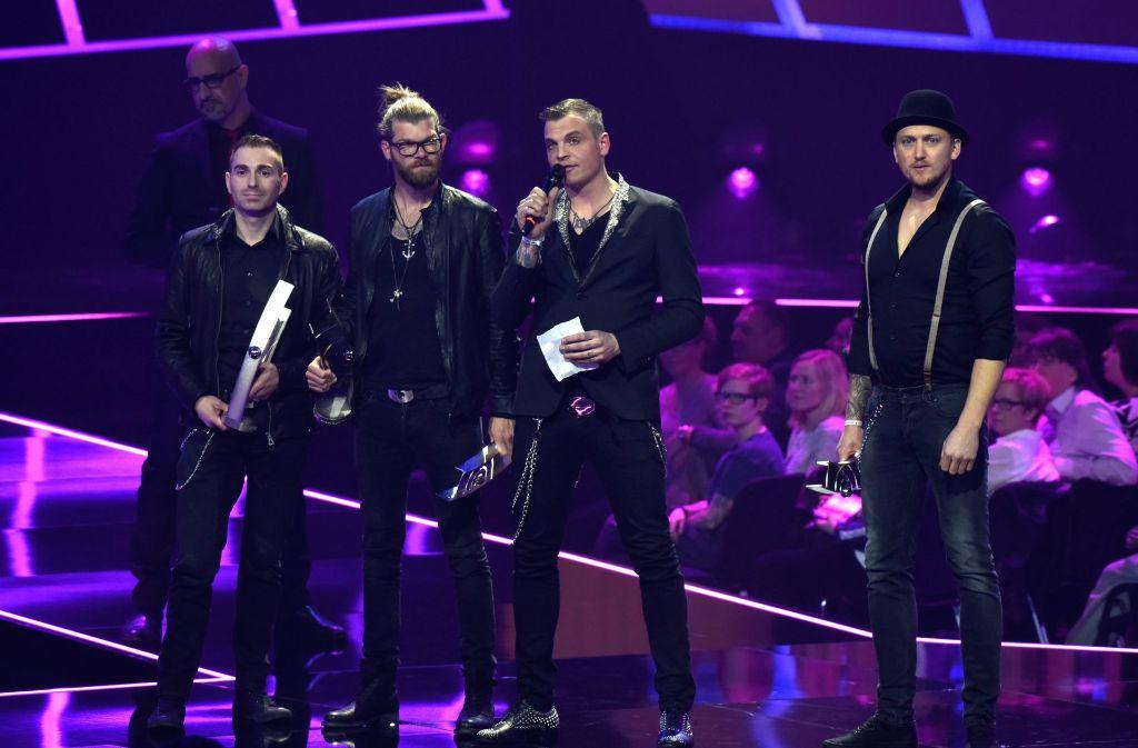 """Die Band Frei.Wild konnte im Jahr 2016 den Echo in der Kategorie """"Rock National"""" abräumen. Foto: dpa"""