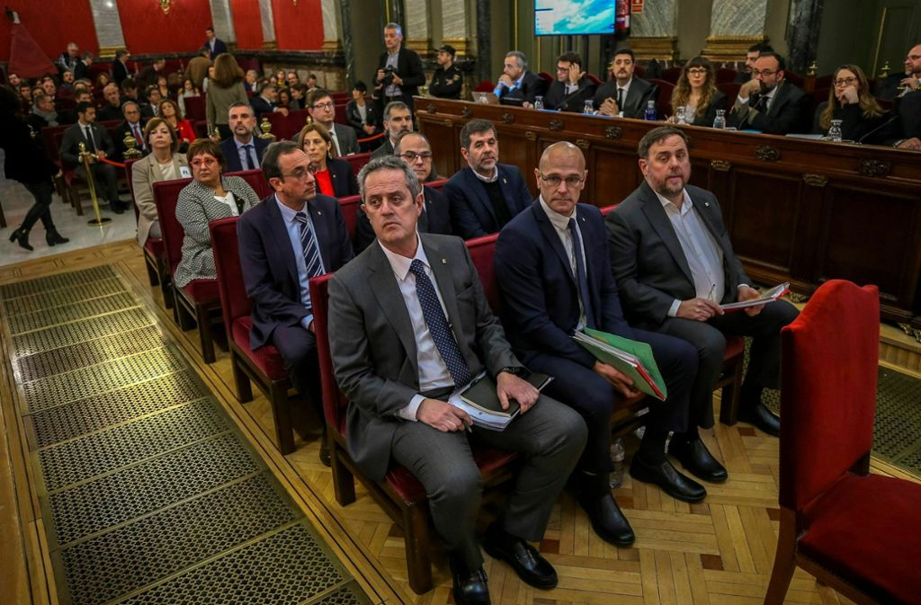 Den Angeklagten in Madrid drohen bis zu 25 Jahre Haft. Foto: AFP