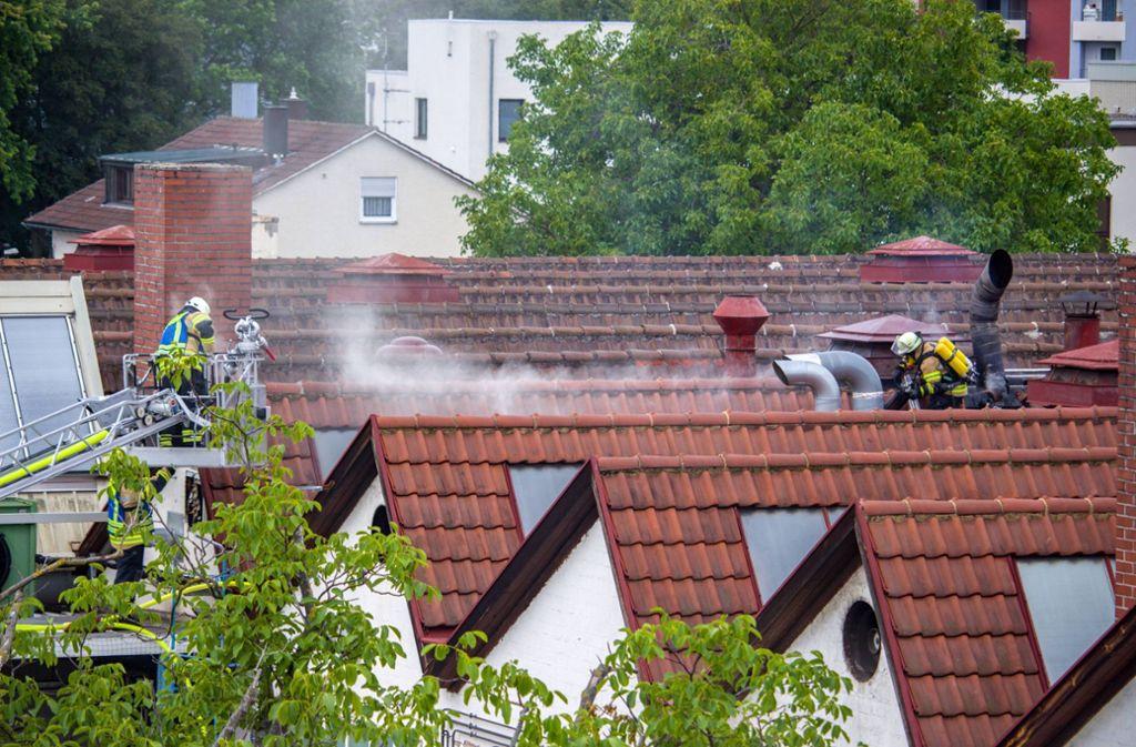 Ein Brand in Fellbach richtete am Montag großen Schaden an. Foto: 7aktuell.de/Max Kurrer