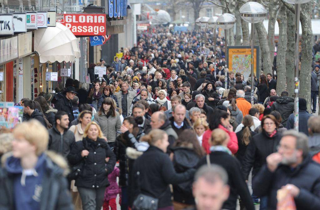 In Stuttgart steigt die Einwohnerzahl. Foto: dpa