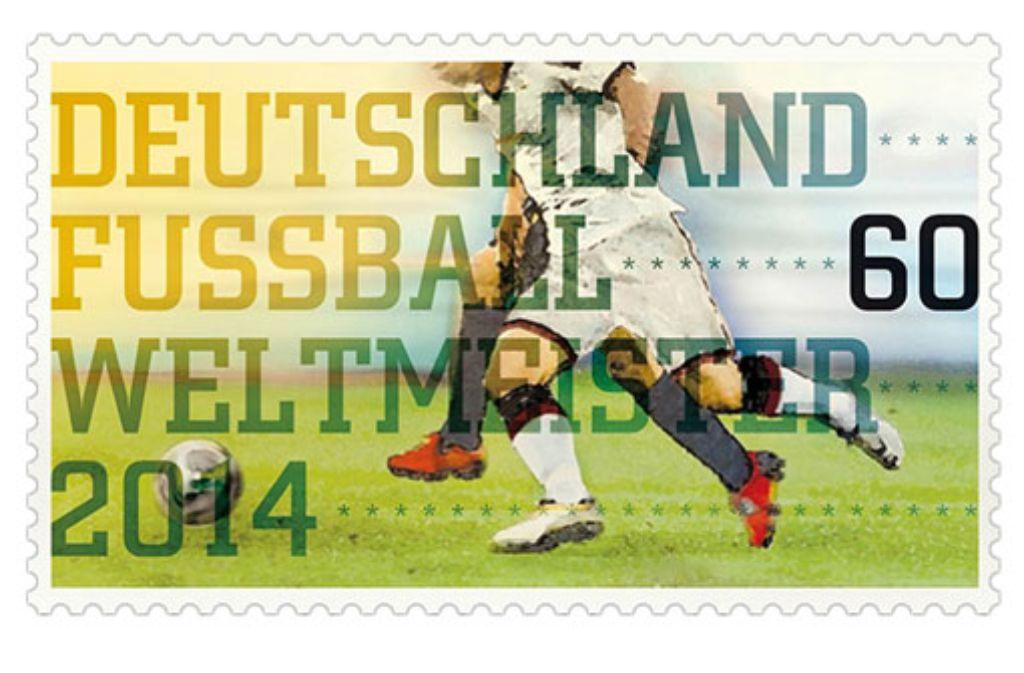 Das Bundesfinanzministerium druckt zur Feier des Finales eine DFB-Elf-Briefmarke. Foto: Bundesfinanzministerium