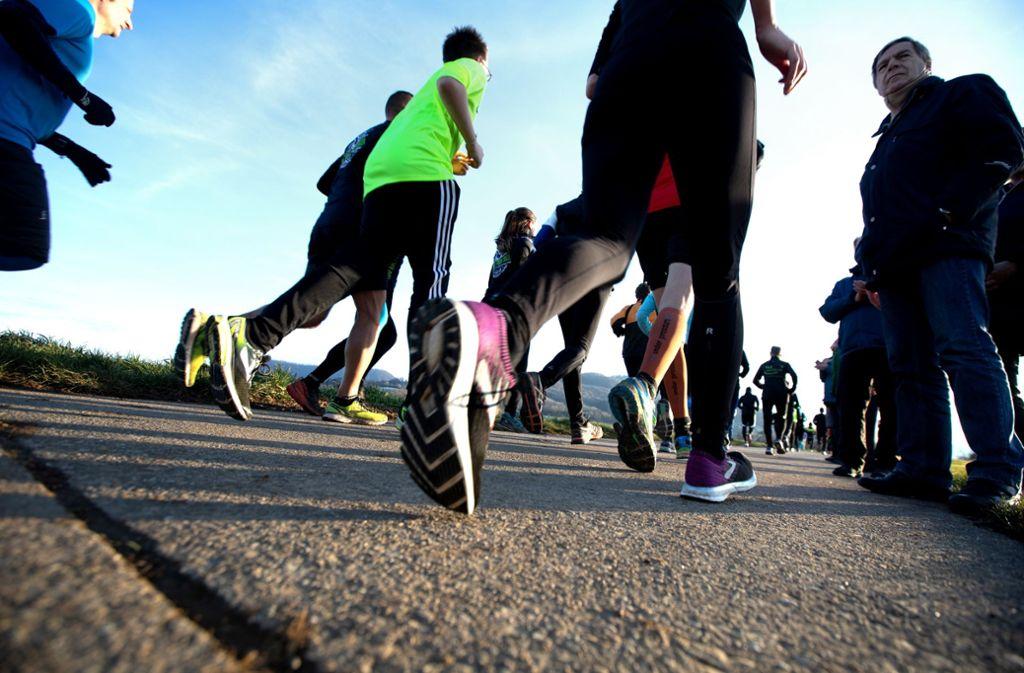 Ganze 464 Höhenmeter müssen die Athleten am Kirchheimer Silvesterlauf bewältigen. Foto: Horst Rudel/Horst Rudel