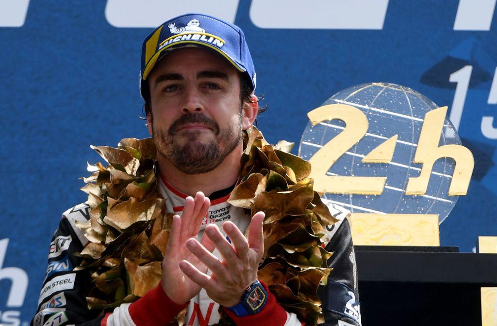 Fernando Alonso ist Formel-1-Weltmeister und Langstrecken-Weltmeister – das hat vor ihm noch keiner geschafft. Foto: AFP