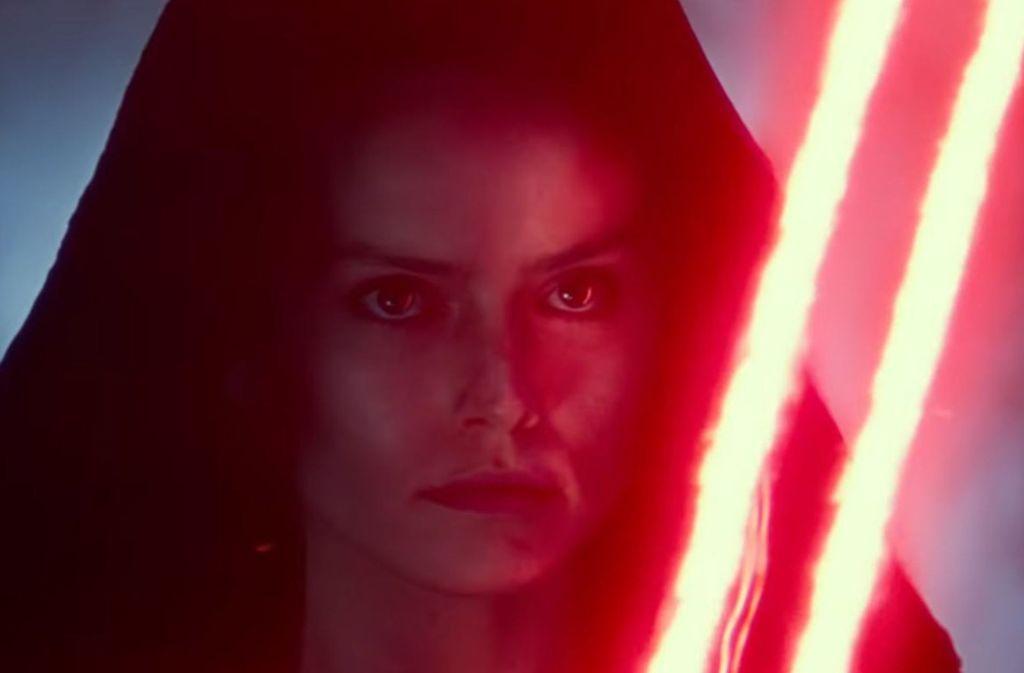 """Diese Szene aus dem neuen Trailer zum Film """"Der Aufstieg Skywalkers"""" sorgt für Diskussionen im Netz. Foto: Disney"""