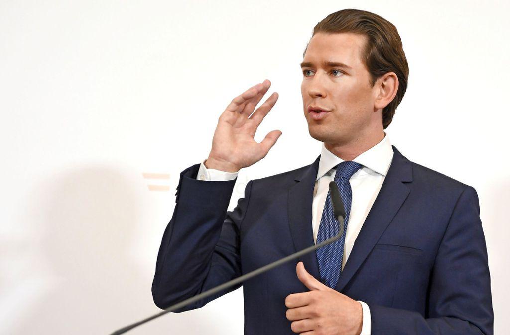Österreichs Kanzler Sebastian Kurz und sein gesamtes Kabinett wurde gestürzt. Foto: dpa