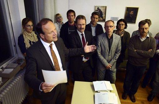Oberbürgermeister Spec in Neckarweihingen Foto: Factum/Weise