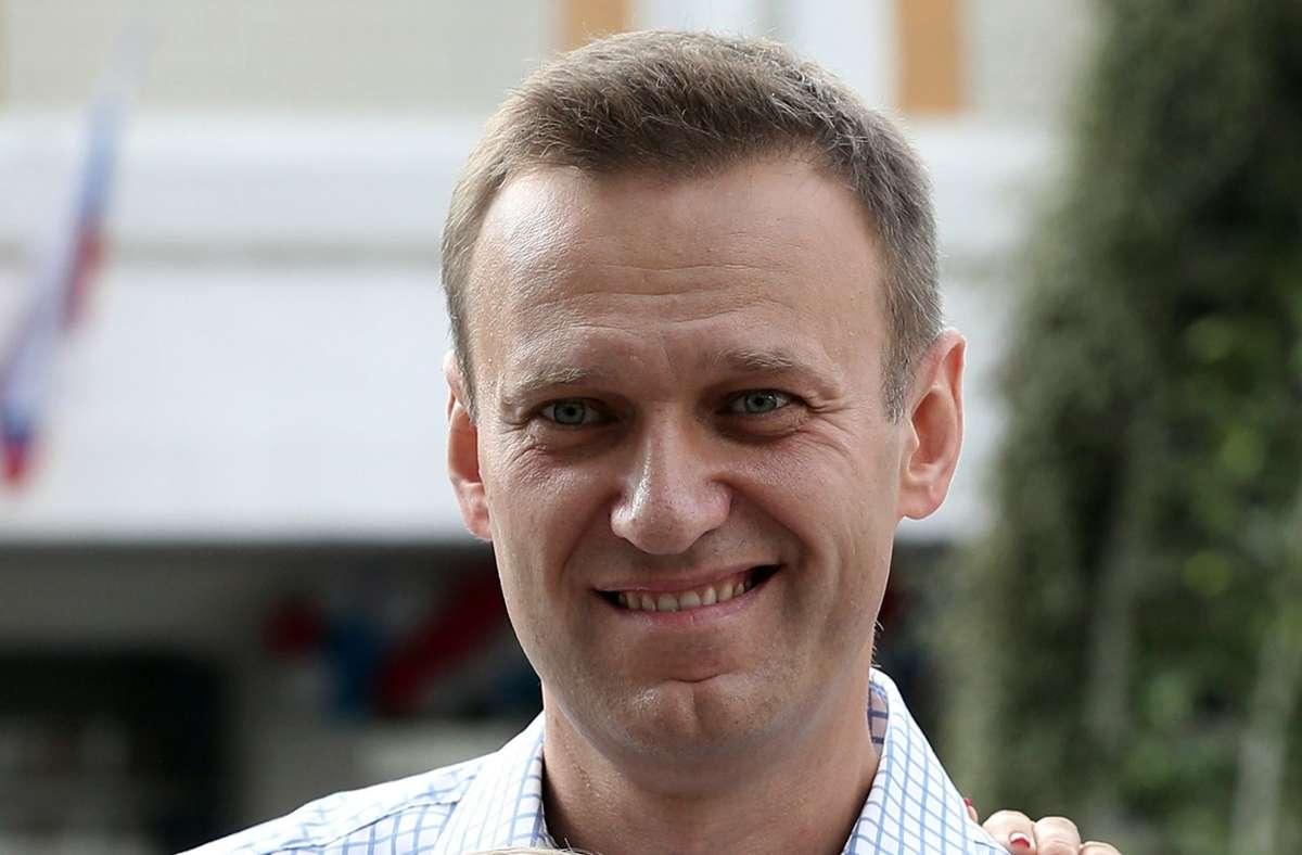 """Alexj Nawalny hatte in einem """"Spiegel""""-Interview Waldimir Putin für die Tat verantwortlich gemacht. (Archivfoto) Foto: dpa/Andrew Lubimov"""