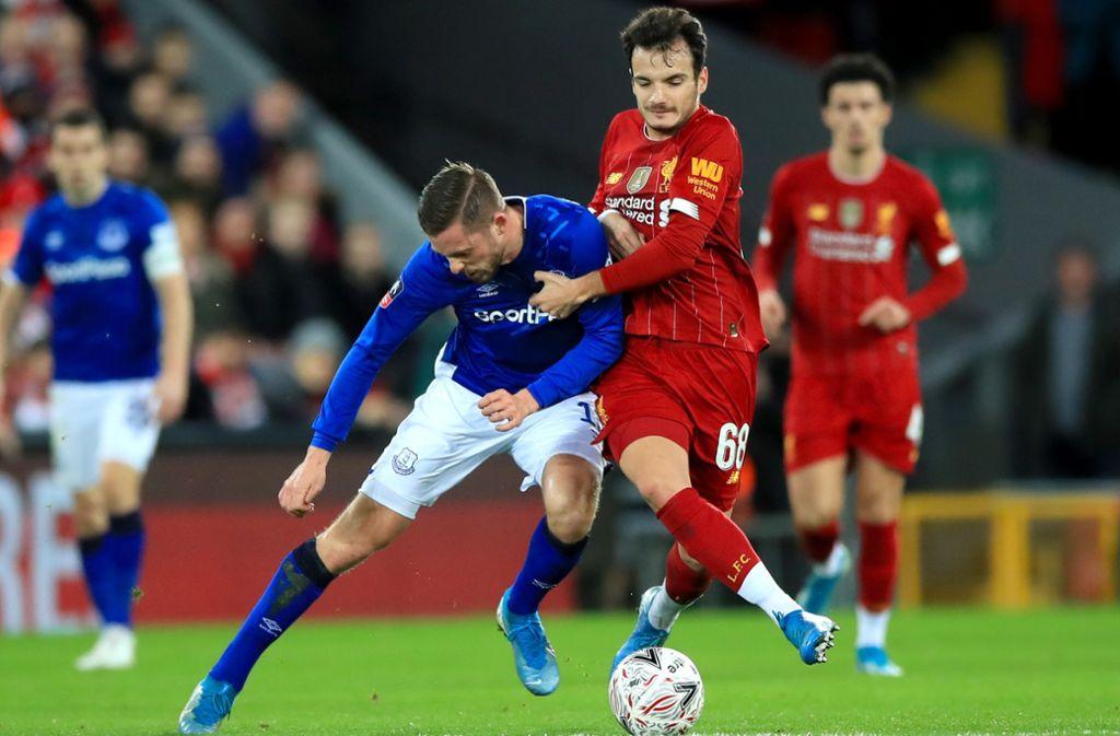 Der FC Liverpool hat im FA-Cup gegen den FC Everton gewonnen. Foto: dpa/Peter Byrne