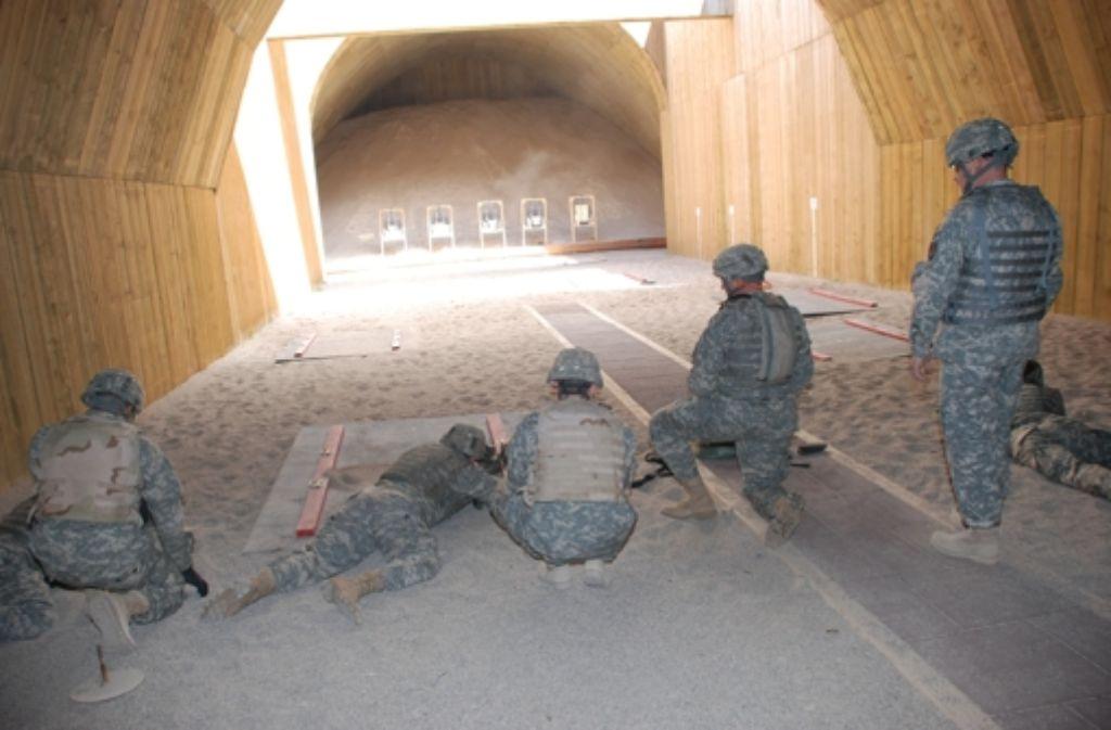 Auf dem  Schießstand bei der Panzerkaserne wird fast täglich trainiert. Foto: US-Army