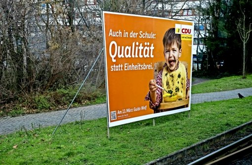 Die CDU redet über Bildung, aber die Flüchtlingsfrage überdeckt alles. Foto: Lg/ Kovalenko