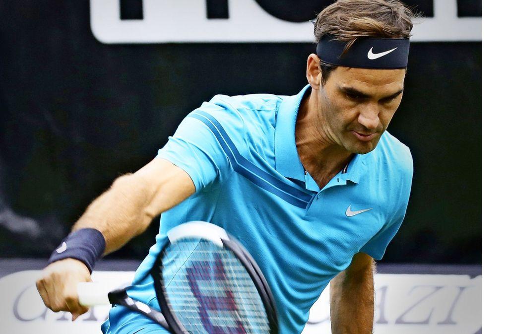 Im Vorjahr hat Roger Federer erstmals das Turnier auf dem Weissenhof gewonnen. Foto: Baumann