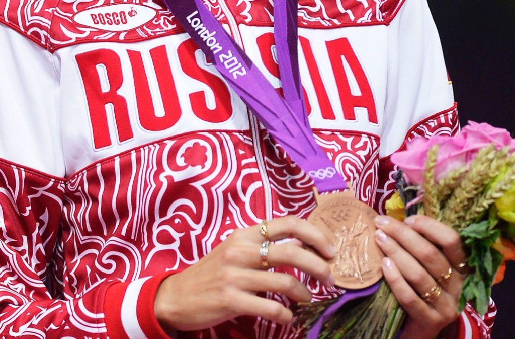 Russische Sportler bekommen in Rio wieder die Gelegenheit, sich über Medaillen zu freuen. Foto: EPA