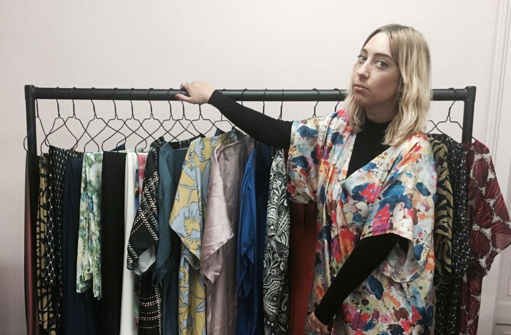 Stolz auf ihr Label Omonia: Stylistin und Designerin Nora Erdle. Foto: Tanja Simoncev