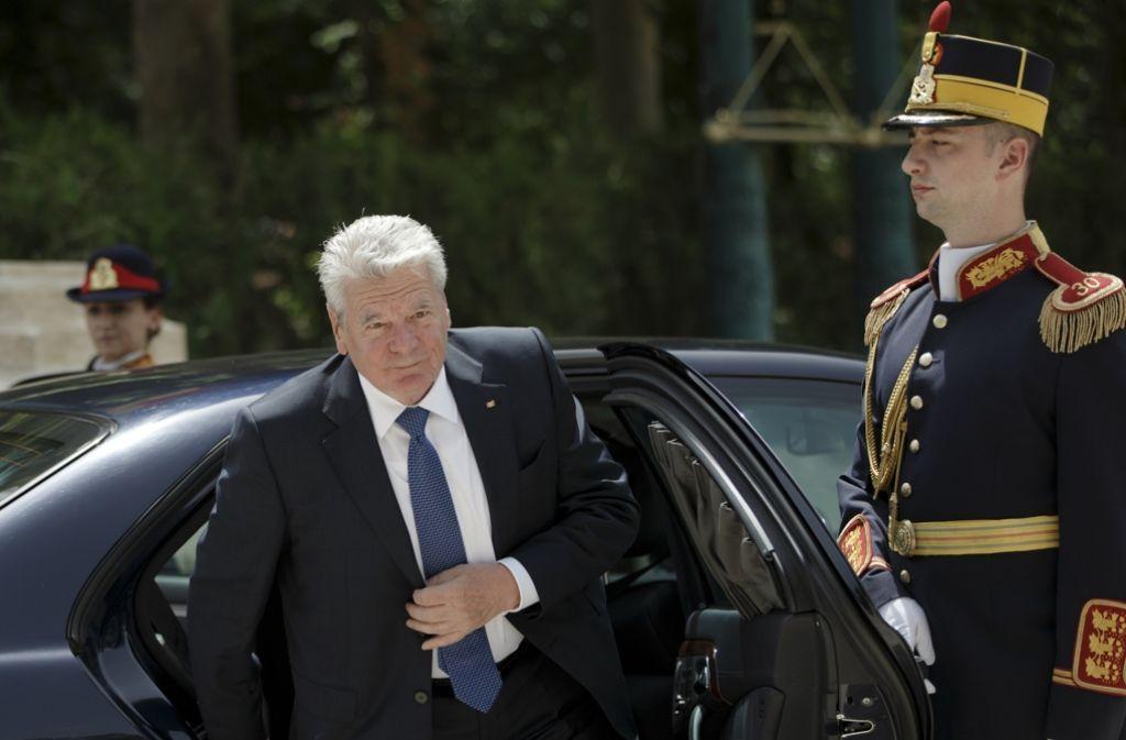 Bundespräsident Joachim Gauck ist derzeit auf Staatsbesuch in Rumänien. Foto: AP