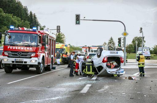 Geänderte Verkehrsführung führt zu schwerem Unfall