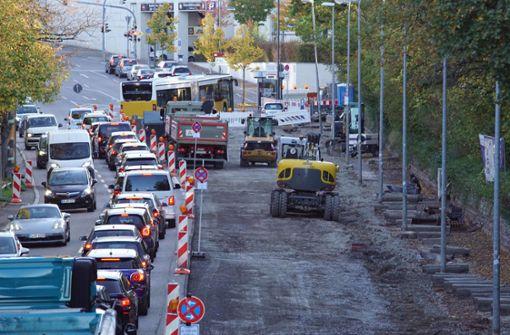 Sanierung der Stresemannstraße in vollem Gange