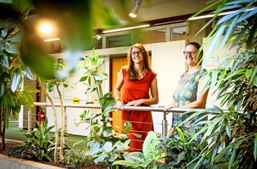 Zwei Frauen kämpfen für den  Klimaschutz