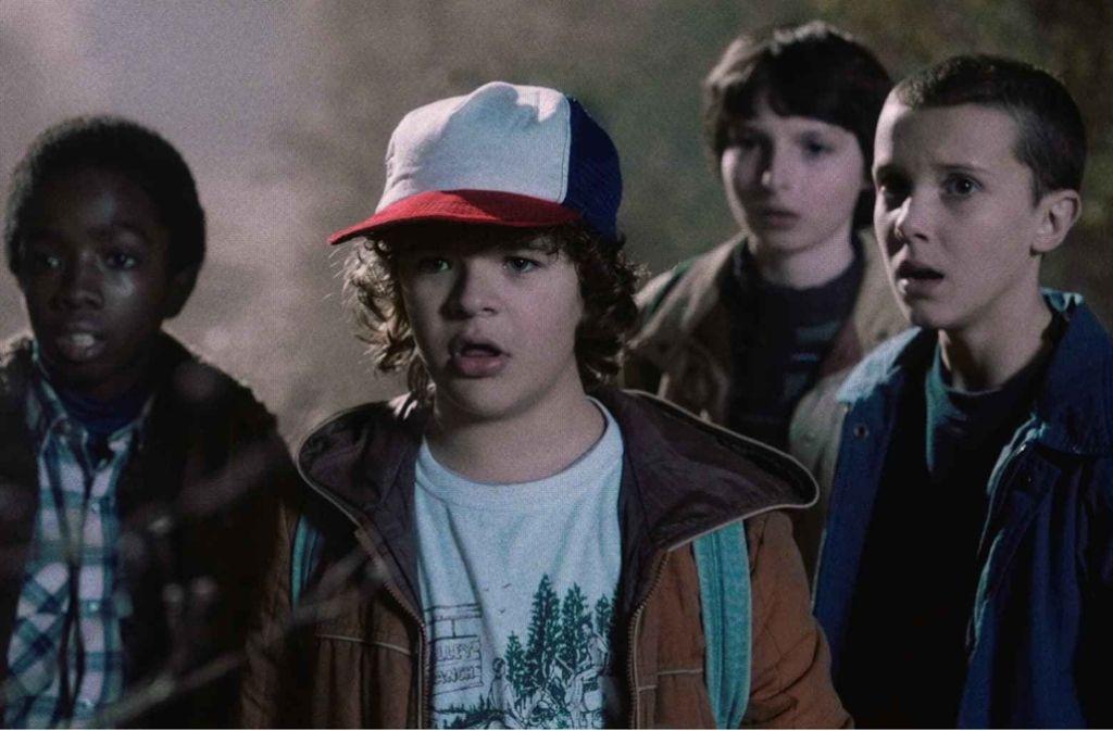 """Die jugendlichen Helden aus der Netflix-Serie """"Stranger Things"""" Foto: Netflix"""