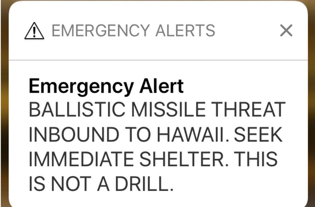 Die SMS der Katastrophenschutzbehörde EMA. Foto: AP